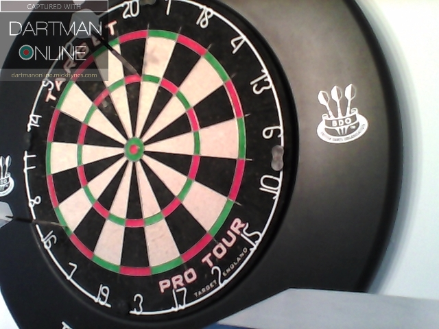 92 checkout hit against Raychuck