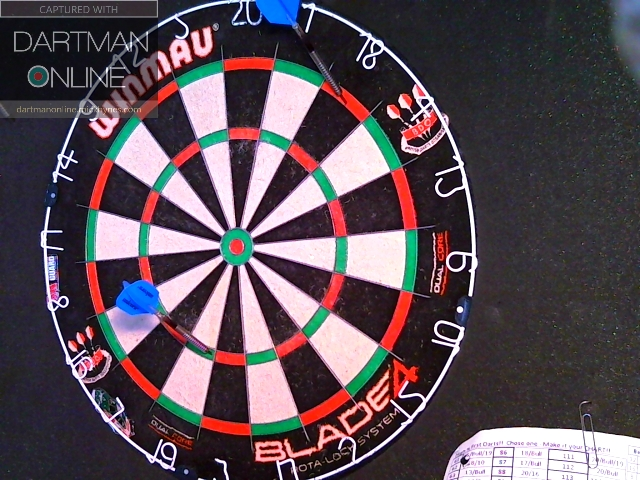 93 checkout hit against maus