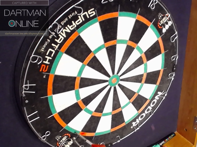 82 checkout hit against DartWoman