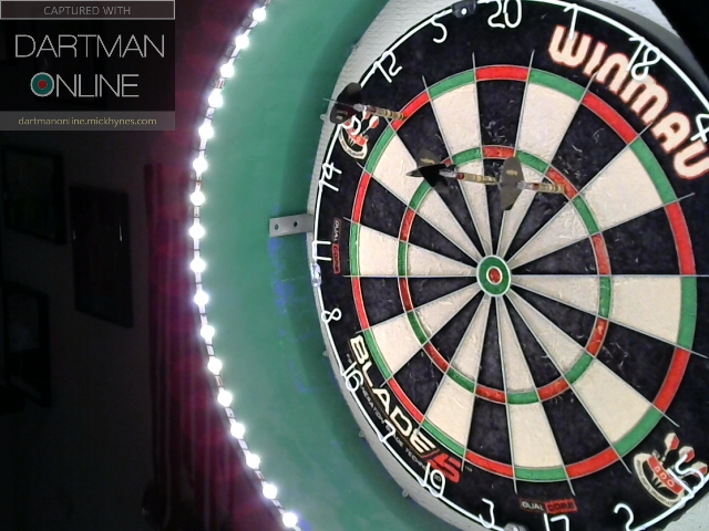98 checkout hit against bullseyebri
